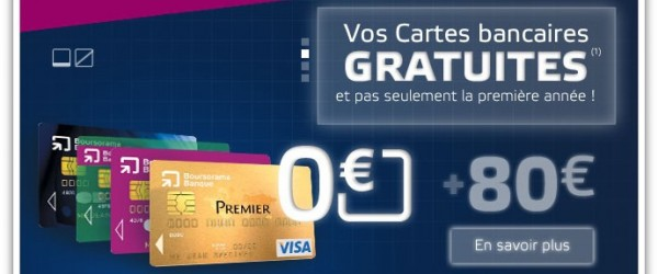 Boursorama vous offre 80 euros pour l'ouverture d'un compte courant